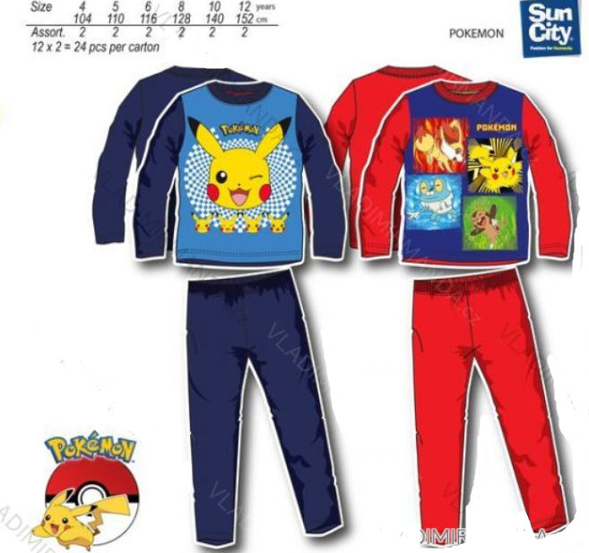 e9fab940aef Pokemon pyžamo modré 6 let