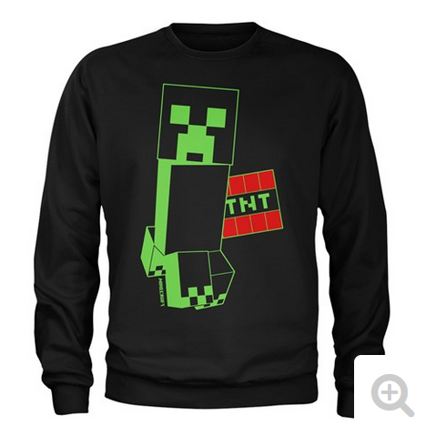 Mikina Minecraft Creeper TNT L 9-10LET