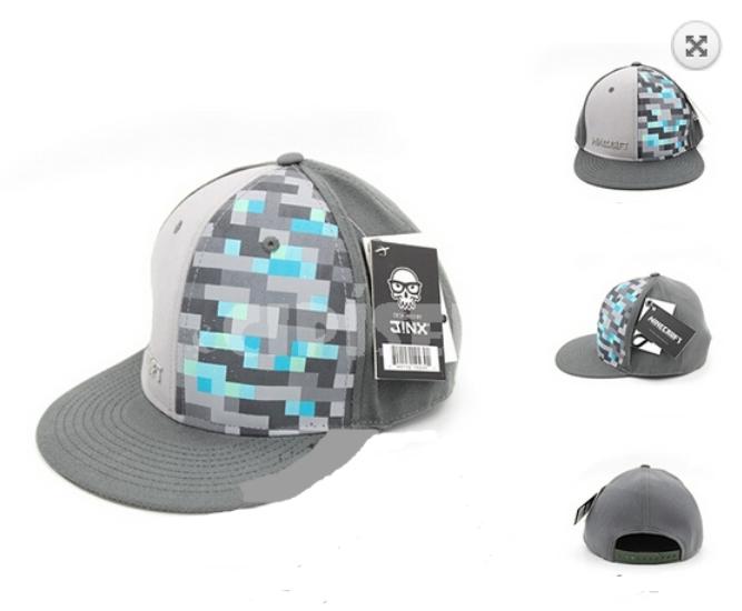 1acada5f354 Čepice kšiltovka Minecraft modro- šedá