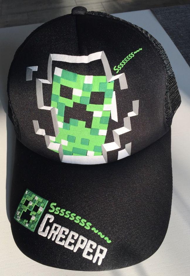 87b6457398b Čepice kšiltovka Minecraft černá