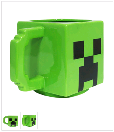 Minecraft Creeper 3D hrnek 450 ml
