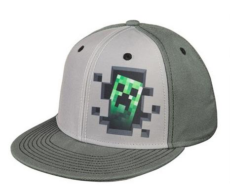 1217a4bc3a51 Čepice kšiltovka Minecraft CREEPER šedá empty