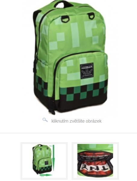 f7d57a3b24a Batoh Minecraft zelený 44 cm Novinka empty