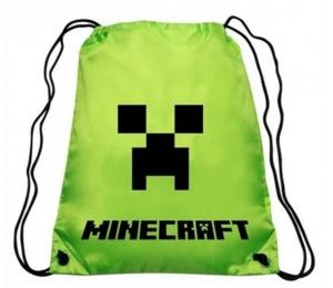 cf9c76934c Pytlík batoh Minecraft na přezuvky - LUX zelený 42 32cm empty