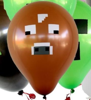 Minecraft balonky , oslavy