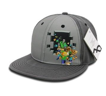a03840c0fb11 Čepice kšiltovka Minecraft CREEPER šedá postavy empty